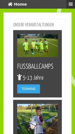 Vorschau der mobilen Webseite www.fussballschule.berlin, Fußballferienschule Berlin-Brandenburg