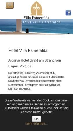 Vorschau der mobilen Webseite www.villa-esmeralda-algarve.com, Hotel Villa Esmeralda