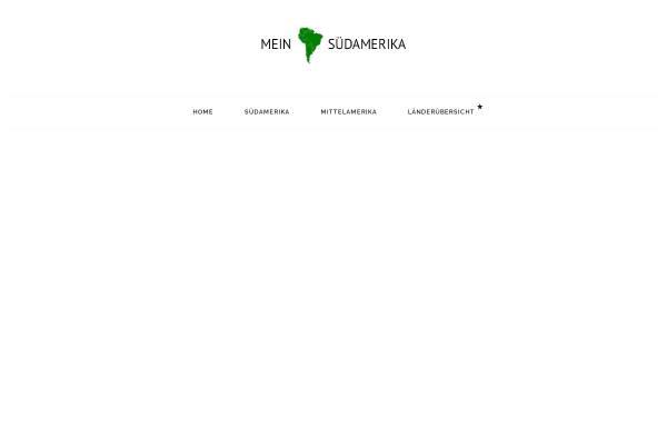 Vorschau von www.mein-suedamerika.de, Mein Südamerika - Die besten Links nach Südamerika