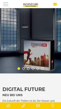 Vorschau der mobilen Webseite www.ralfkonzegmbh.de, Ralf Konze GmbH