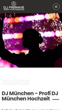 Vorschau der mobilen Webseite www.frankie.cc, Deejay Frankie aus München