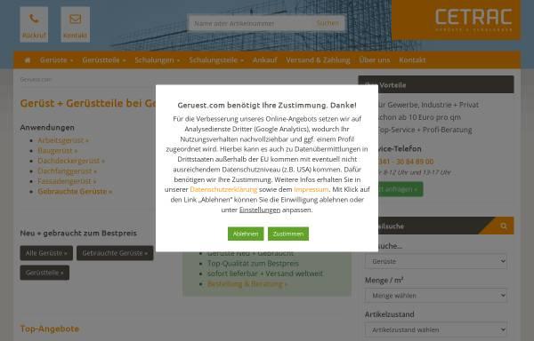Vorschau von www.geruest.com, cetrac GmbH