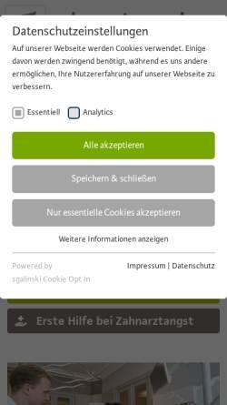 Vorschau der mobilen Webseite www.zahnarztnowak.de, Dr. med. dent. Marcus Nowak   Zahnarzt MSc Implantologie