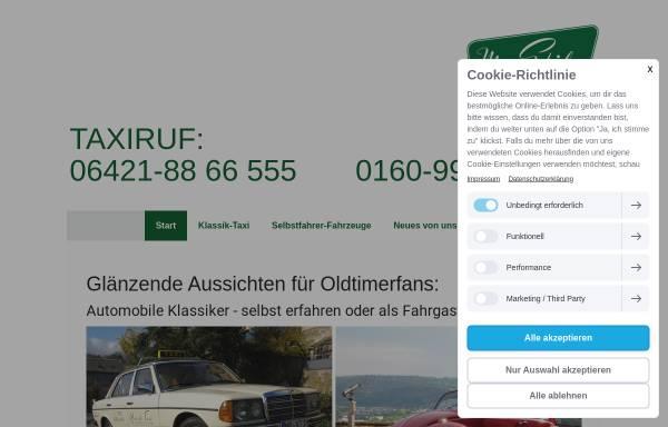 Vorschau von www.klassik-taxi.de, Mit Stil ans Ziel / Klassik-Taxi