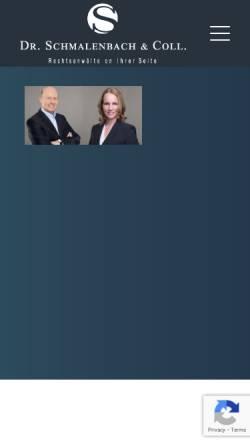 Vorschau der mobilen Webseite drschmalenbach.de, Dr. Schmalenbach & Coll. - Rechtsanwälte in Sindelfingen