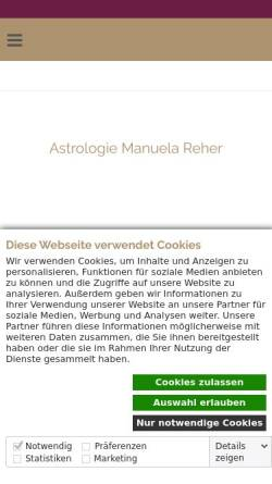 Vorschau der mobilen Webseite www.astrolingua.de, Astrologische Beratung Manuela Reher