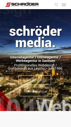 Vorschau der mobilen Webseite www.schroeder-media.net, Schröder Media