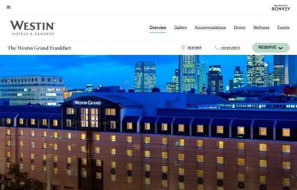 Vorschau von www.westingrandfrankfurt.com, The Westin Grand Hotel Frankfurt