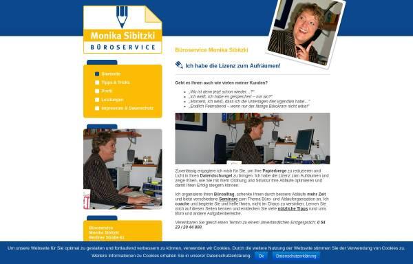 Vorschau von www.bueroservice-sibitzki.de, Büroservice Monika Sibitzki