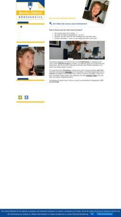 Vorschau der mobilen Webseite www.bueroservice-sibitzki.de, Büroservice Monika Sibitzki
