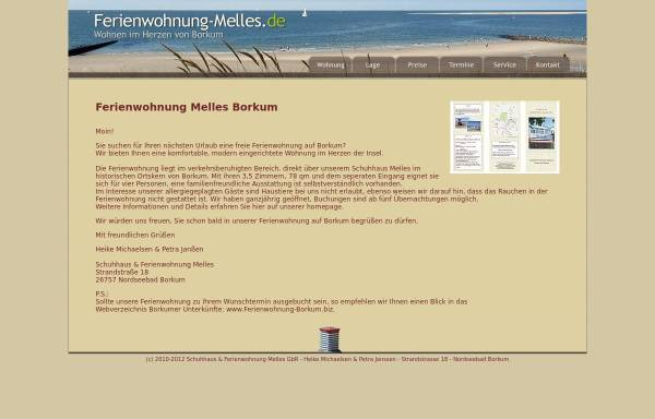 Vorschau von www.ferienwohnung-melles.de, Ferienwohnung Melles