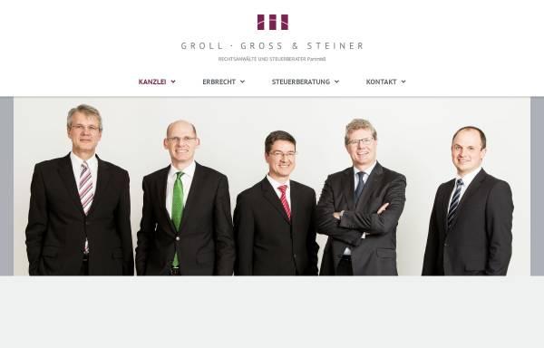 Vorschau von www.groll-gross-steiner.de, Groll, Gross & Steiner - Fachkompetenz im Bereich Erbrecht und Erbschaftsteuerrecht