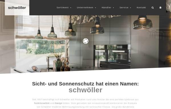 Vorschau von www.schwoeller.at, Schwöller - Alles zu Markisen und Vorhängen
