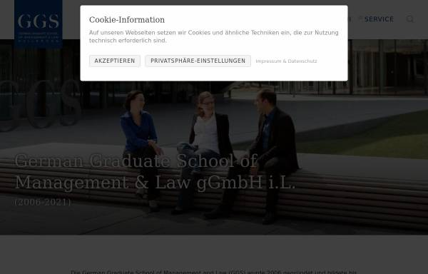 Vorschau von www.ggs.de, German Graduate School of Management and Law