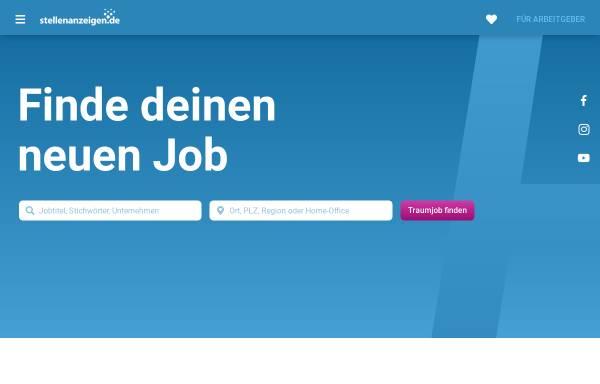Vorschau von www.stellenanzeigen.de, Stellenmarkt Stellenanzeigen.de