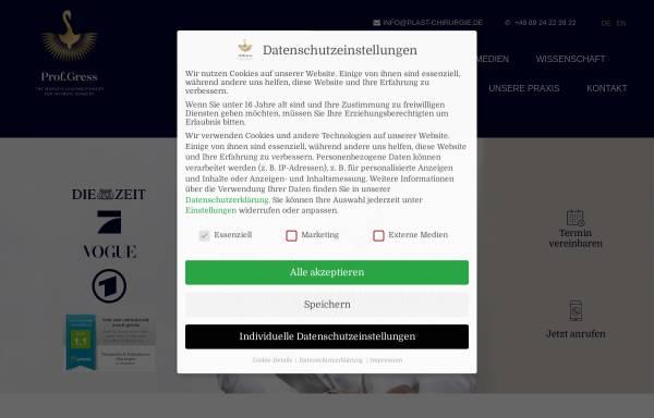 Vorschau von www.plast-chirurgie.de, Prof. Dr. Stefan Gress - Facharzt für plastische und ästhetische Chirurgie