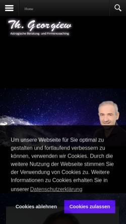 Vorschau der mobilen Webseite www.astrologie-dresden.com, Thomas Georgiew - Astrologische Beratung Dresden