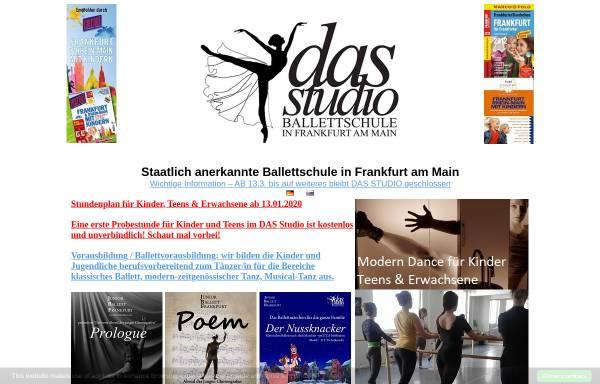 Vorschau von www.das-studio.eu, DAS Studio - Dance Art Sport Studio - Ballettschule in Frankfurt
