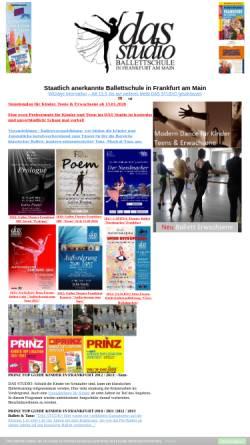 Vorschau der mobilen Webseite www.das-studio.eu, DAS Studio - Dance Art Sport Studio - Ballettschule in Frankfurt