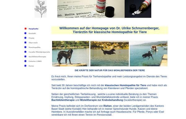Vorschau von www.tierhomoeopathie-riehen.ch, Tierärztin für klassische Homöopathie für Kleintiere und Pferde