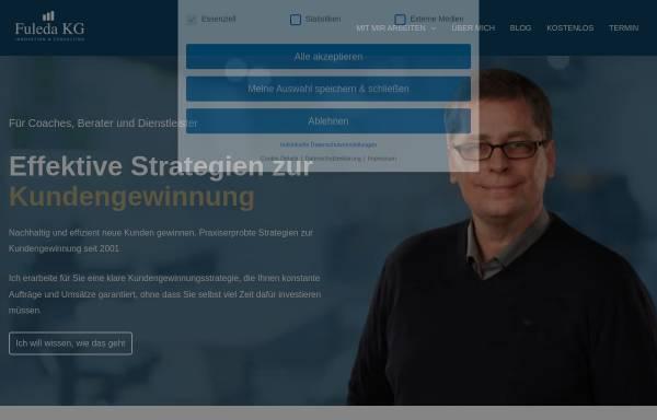 Vorschau von www.blickpunkt-einzelhandel.de, Unternehmensberatung für den Einzelhandel - Fuleda KG