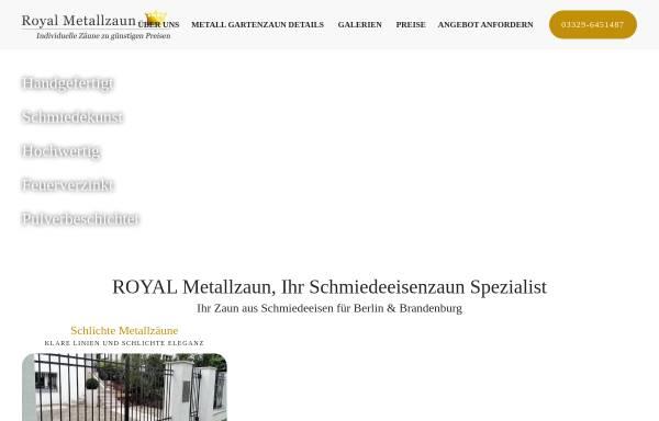 Vorschau von www.royal-metallzaun.de, Royal Metallzaun Berlin
