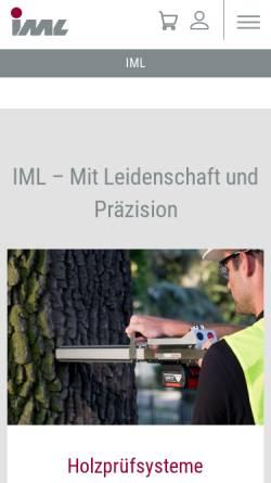 Vorschau der mobilen Webseite www.iml.de, IML - Instrumenta Mechanik Labor System GmbH