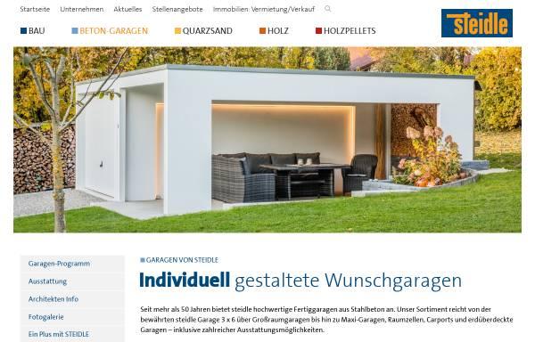 Vorschau von www.steidle-garagen.de, Emil Steidle GmbH & Co.KG