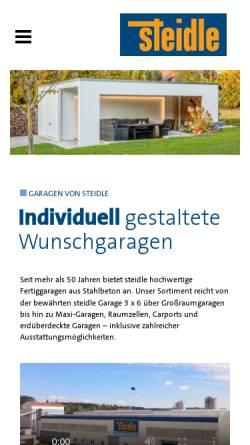 Vorschau der mobilen Webseite www.steidle-garagen.de, Emil Steidle GmbH & Co.KG