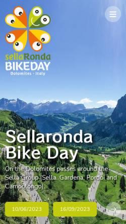 Vorschau der mobilen Webseite www.sellarondabikeday.com, Sellaronda Bike Day