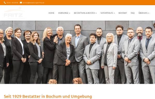 Vorschau von www.bestattungen-fritz.de, Fritz Bestattungen Bochum