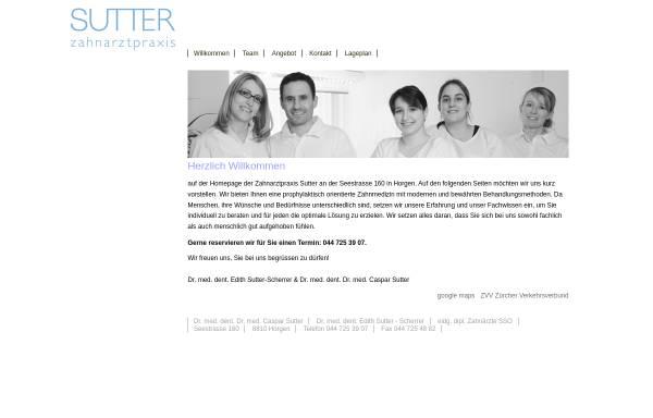 Vorschau von www.zahnarztpraxis-sutter.ch, Zahnarztpraxis Sutter Horgen