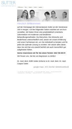 Vorschau der mobilen Webseite www.zahnarztpraxis-sutter.ch, Zahnarztpraxis Sutter Horgen