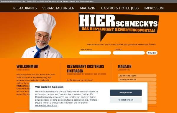 Vorschau von www.hierschmeckts.de, HIER schmeckts