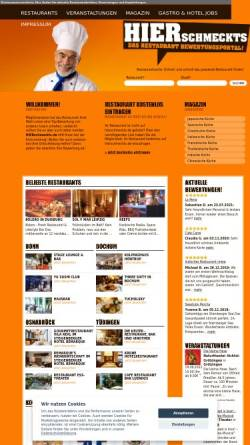 Vorschau der mobilen Webseite www.hierschmeckts.de, HIER schmeckts