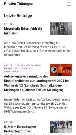 Vorschau der mobilen Webseite piraten-erfurt.de, Piratenpartei Erfurt