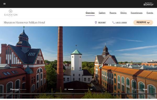 Vorschau von www.sheratonpelikanhannover.com, Hotel in Hannover: Sheraton Pelikan Hannover