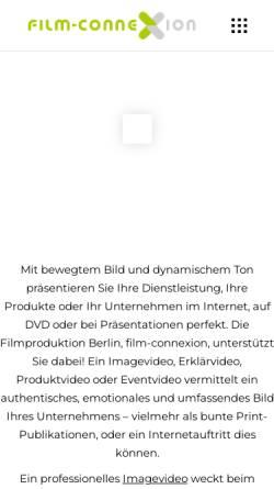 Vorschau der mobilen Webseite www.film-connexion.de, Film-connexion FIlmproduktion