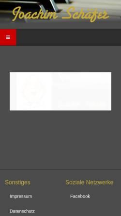 Vorschau der mobilen Webseite www.joachimschaefer.com, Joachim Schäfer