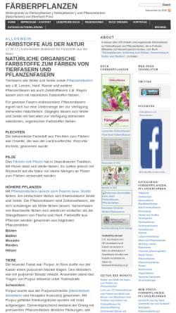 Vorschau der mobilen Webseite www.eberhardprinz.de, Hintergründe zu Färberpflanzen