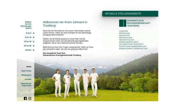 Vorschau von www.zpg-trostberg.de, Zahnarzt-Praxis Trostberg, Landkreis Traunstein
