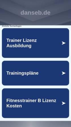 Vorschau der mobilen Webseite www.danseb.de, Luftentfeuchter von danseb