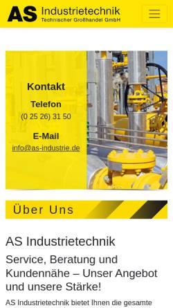 Vorschau der mobilen Webseite www.as-industrie.de, AS-Industrietechnik GmbH