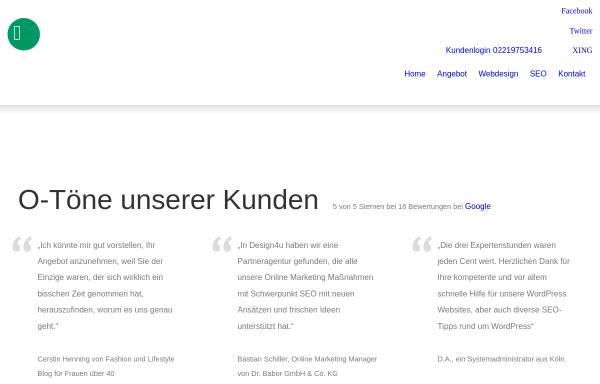 Vorschau von www.design4u.org, Design4u
