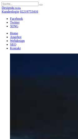 Vorschau der mobilen Webseite www.design4u.org, Design4u