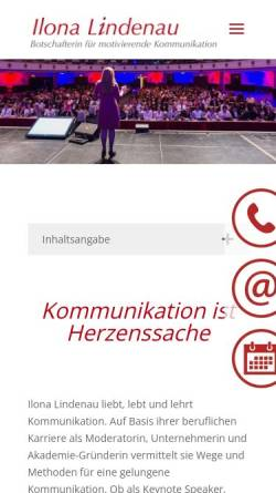 Vorschau der mobilen Webseite www.ilonalindenau.de, Ilona Lindenau