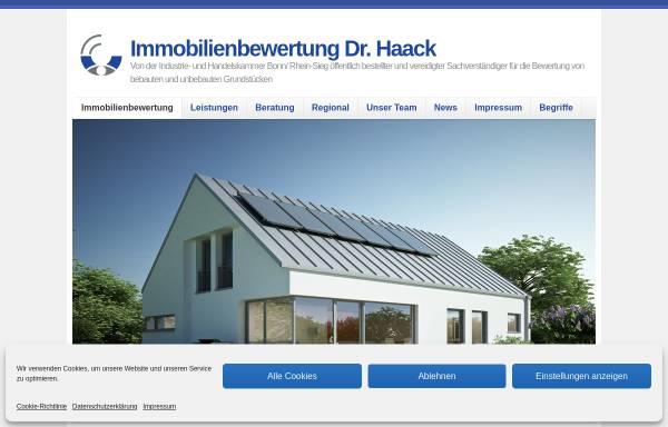 Vorschau von www.verkehrswert-service.de, Verkehrswert-Service - Sachverständigenbüro für Immobilienbewertung Dr. Haack