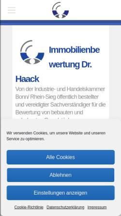 Vorschau der mobilen Webseite www.verkehrswert-service.de, Verkehrswert-Service - Sachverständigenbüro für Immobilienbewertung Dr. Haack