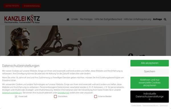 Vorschau von www.verkehrsrechtsiegen.de, Rechtsanwälte Kotz