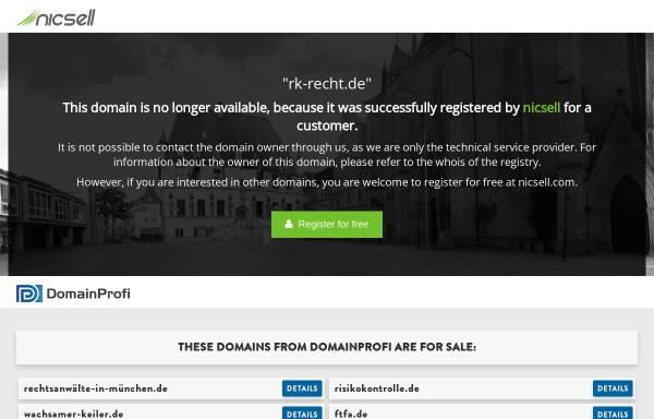 Vorschau von www.rk-recht.de, Kanzlei rk Rechtsanwälte in München